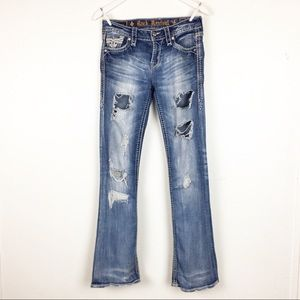 Rock Revival Size 26 Destroyed Distressed Jeans